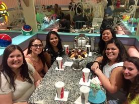 Left side: Kaitlyn, Gretta, Stephanie Right Side: Cassie, Cristina, Mayra